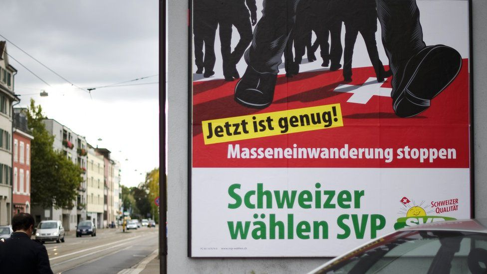 SVP anti-mass immigration poster, 13 Oct 11