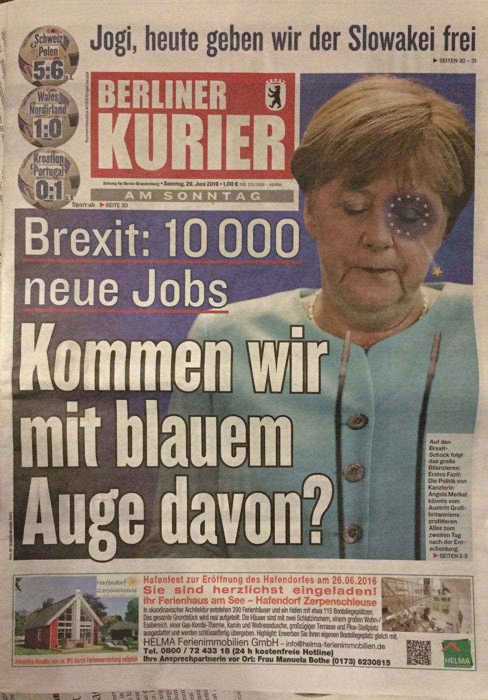 Berliner Kurier front page