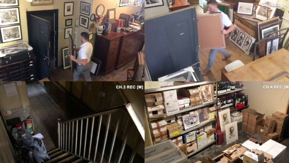 CCTV pictures from the Swamp Motel experience