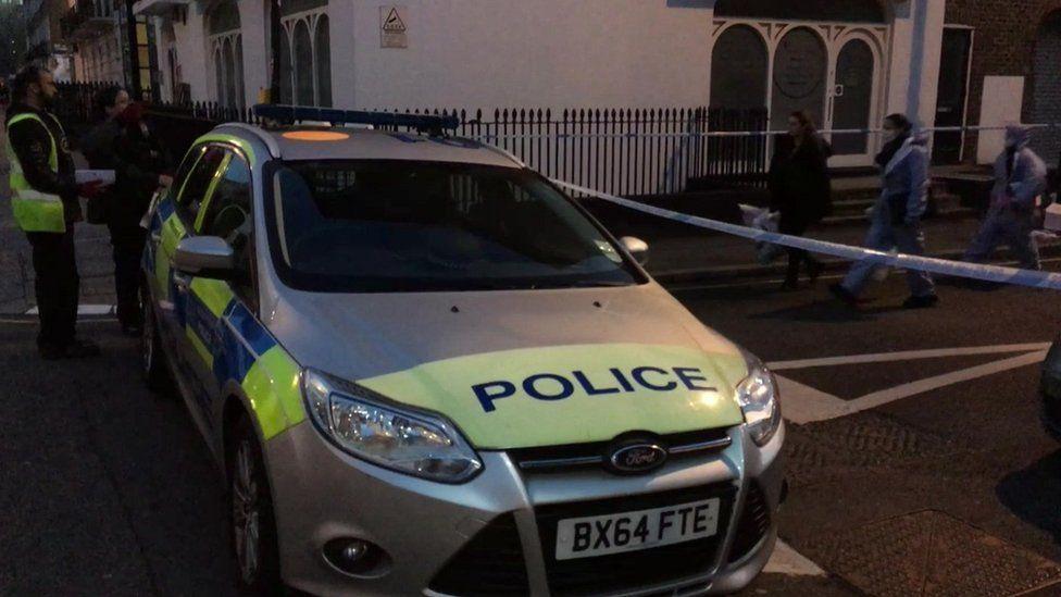 Police in Euston Street