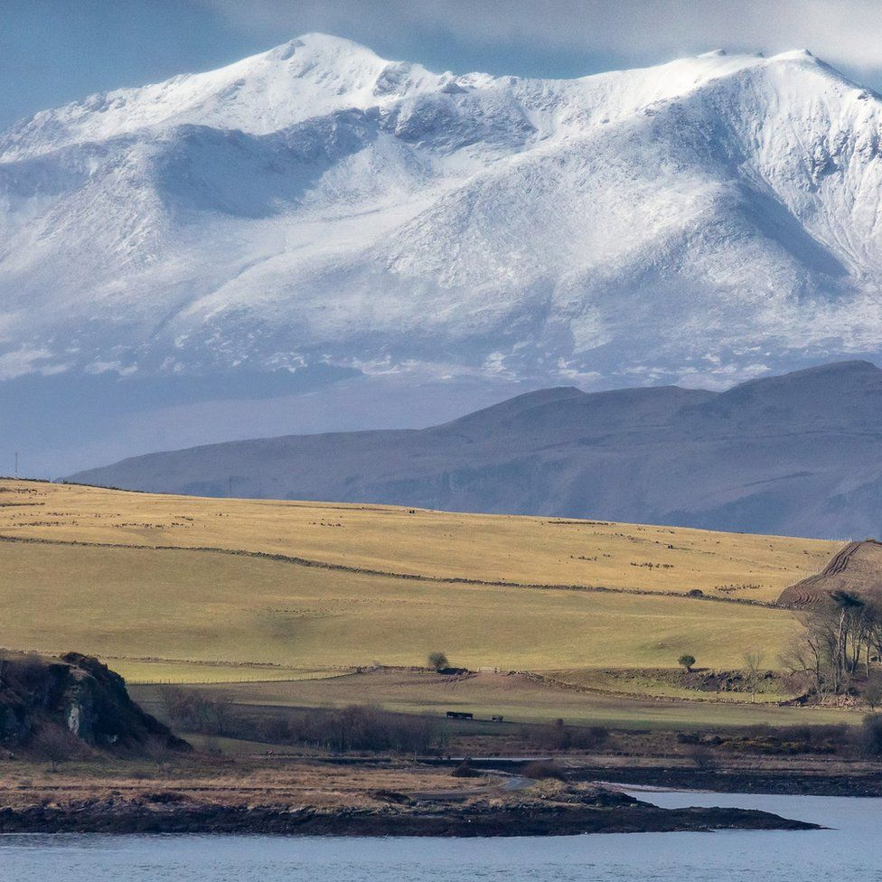 Cumbrae, Bute and Arran from near Largs, Ayrshire, Scotland