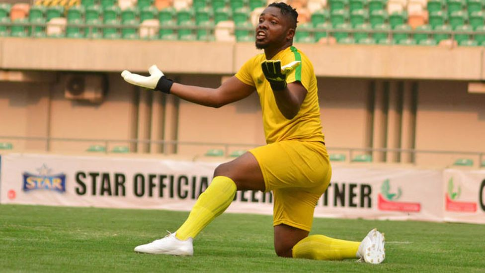 Plateau United goalkeeper Chinedu Anozie