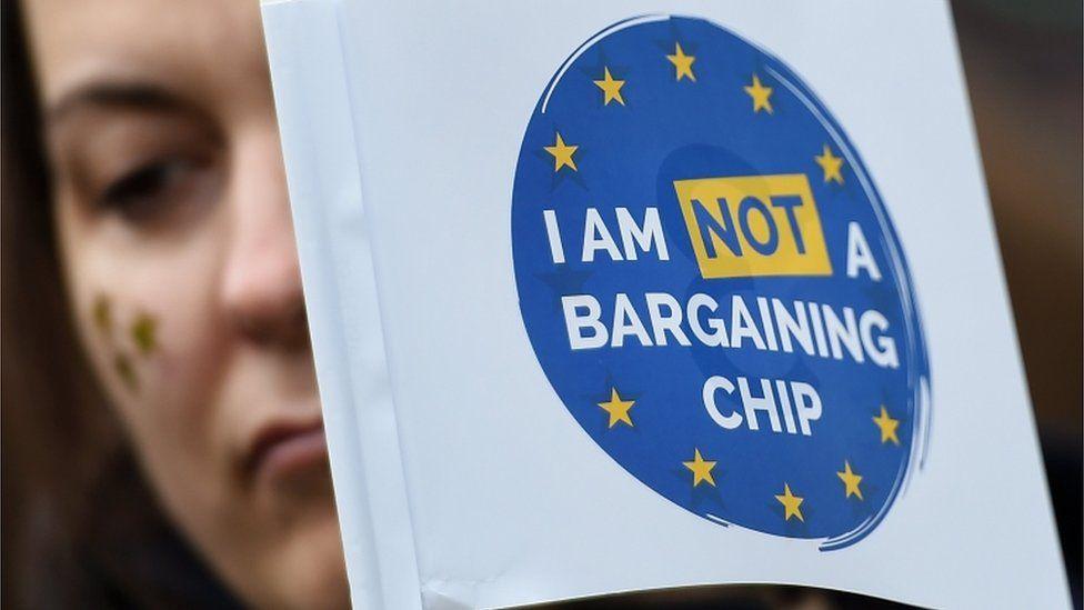 EU migrant protest