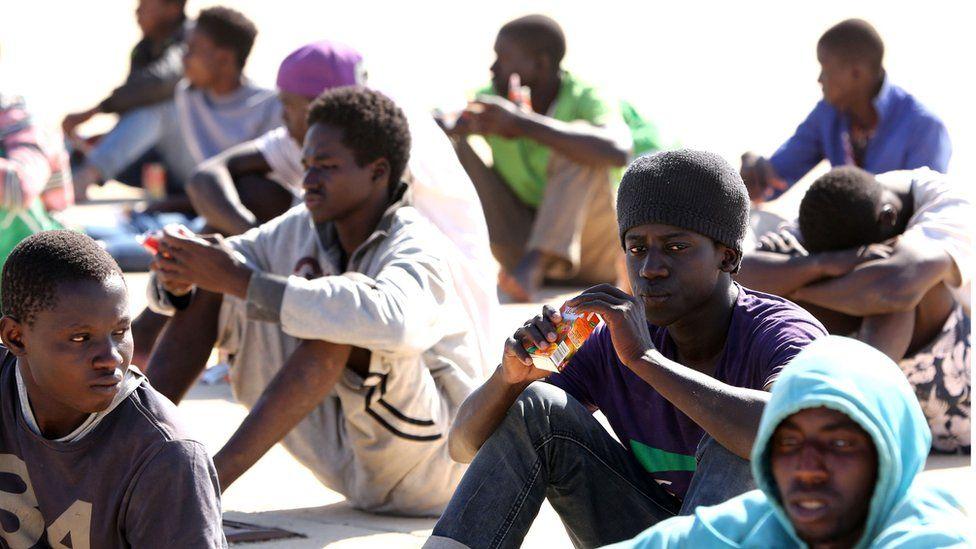 African migrants in Tripoli, Libya, 29 Sep 15