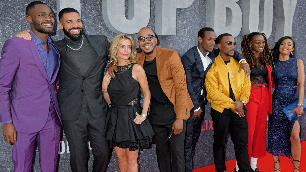 The cast of Top Boy at the premiere in Hackney