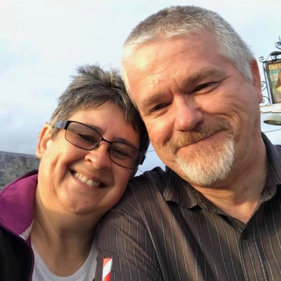 Lesley and her husband Ian