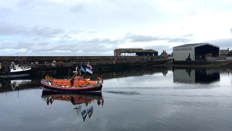 Restored Buckie lifeboat