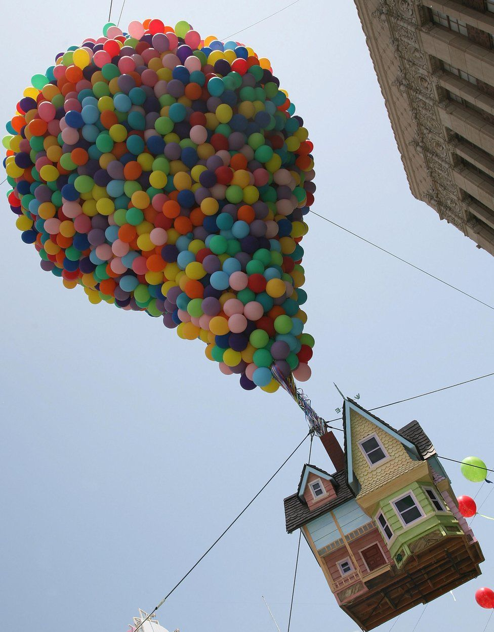 A real-life model of the house from Up, seen at the film's premier