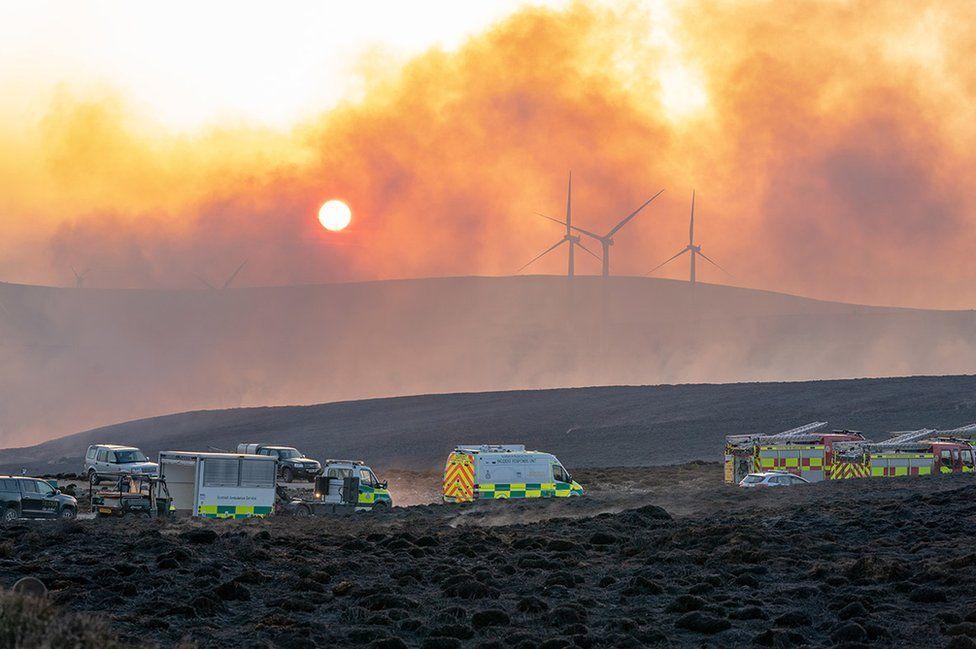 Moray wildfire