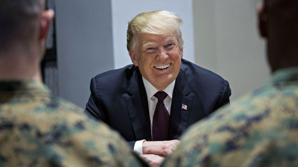 Trump with Marines in Washington