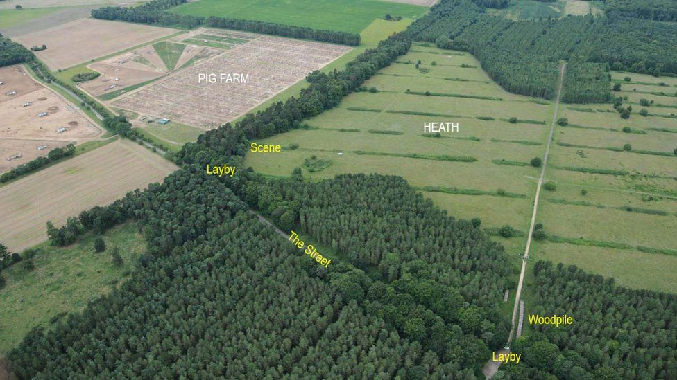 The area and surroundings where Peter Wrighton was found
