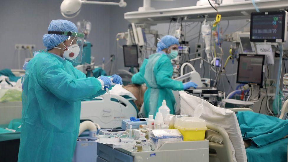 inside Pavia's Hospital 'San Matteo', in Lombardy