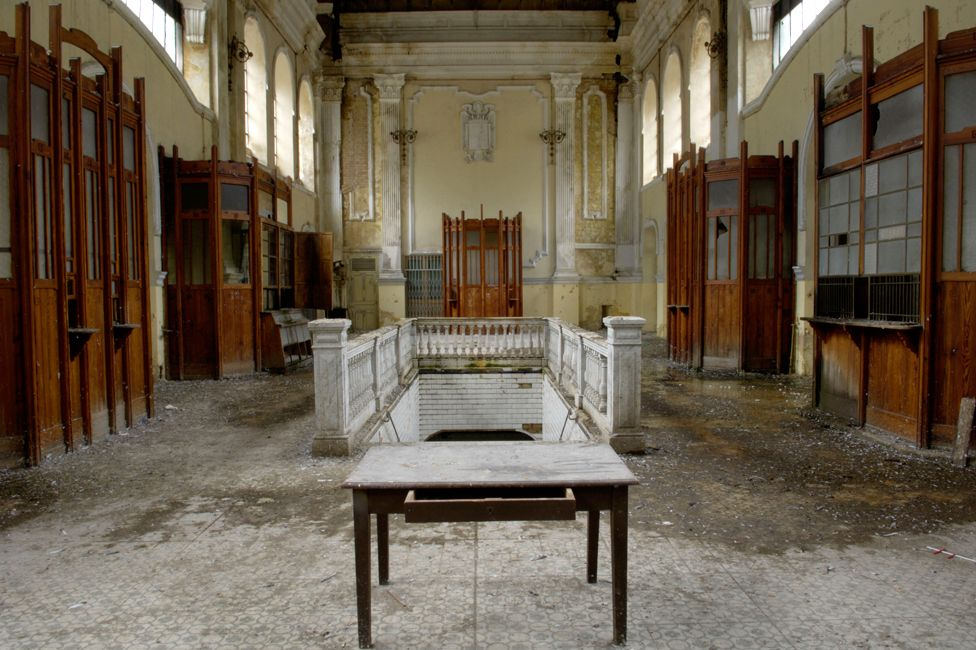 Abandoned Canfranc ticket hall