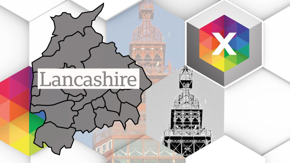 Lancashire general election 2019 map