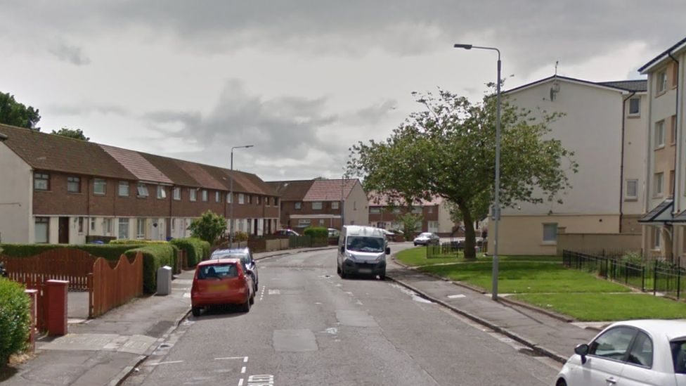 The street in Ayr where a man was stabbed