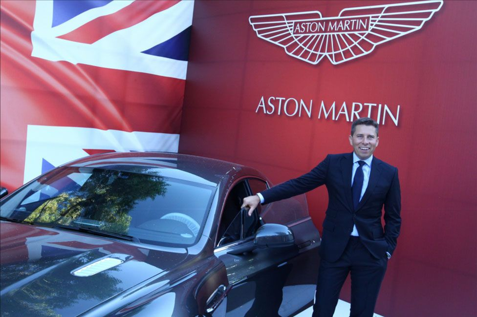Tom Fletcher and an Aston Martin car