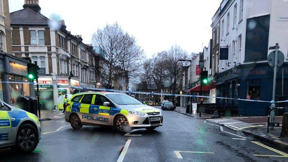 Police on Lordship Lane