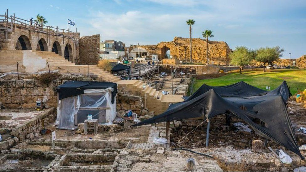 The archaeological site in Israel's ancient port city of Caesarea