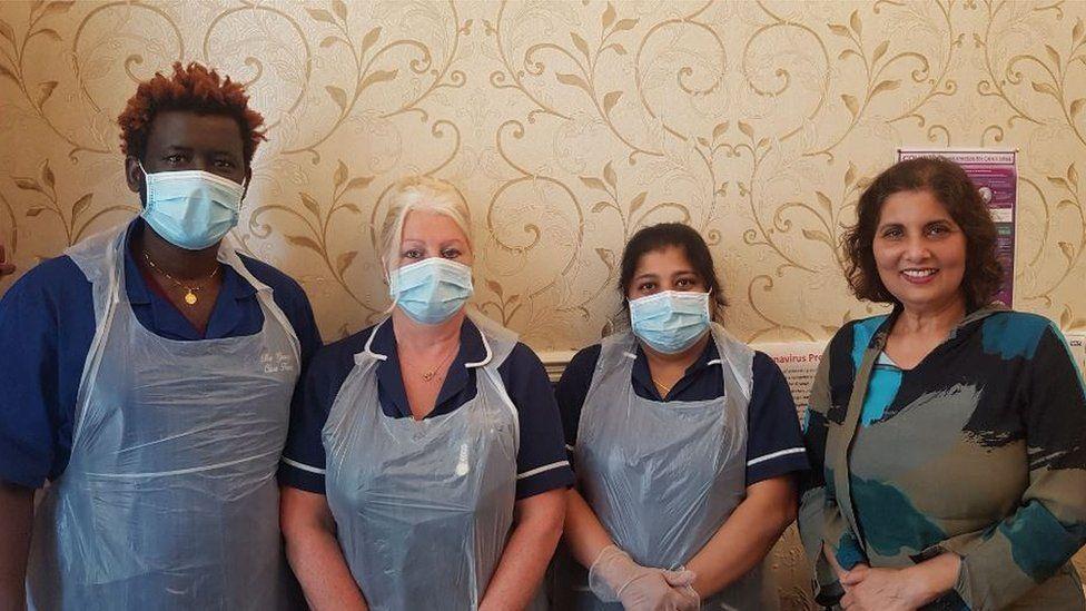 Grange staff in PPE