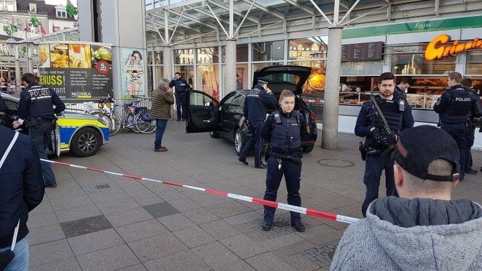 The scene of the attack