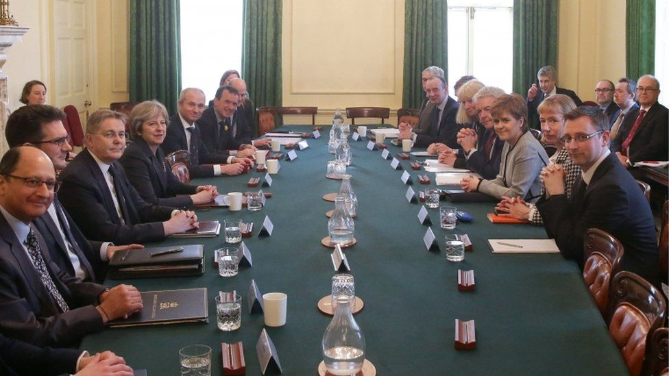 Meeting between Theresa May and Nicola Sturgeon in Downing Street