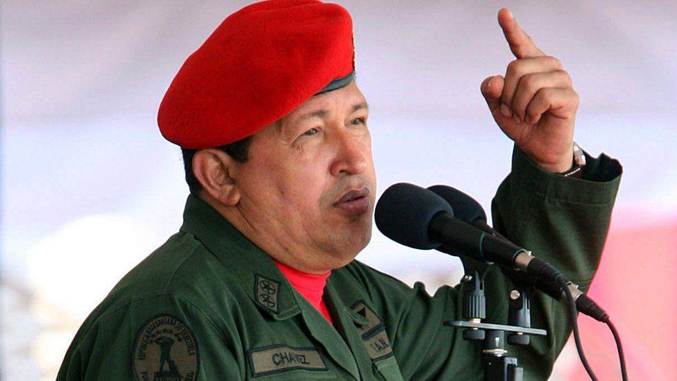 Hugo Chávez in Caracas, 28 December 2007