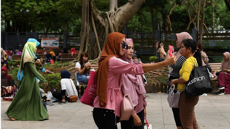 Indonesian domestic workers in Hong Kong