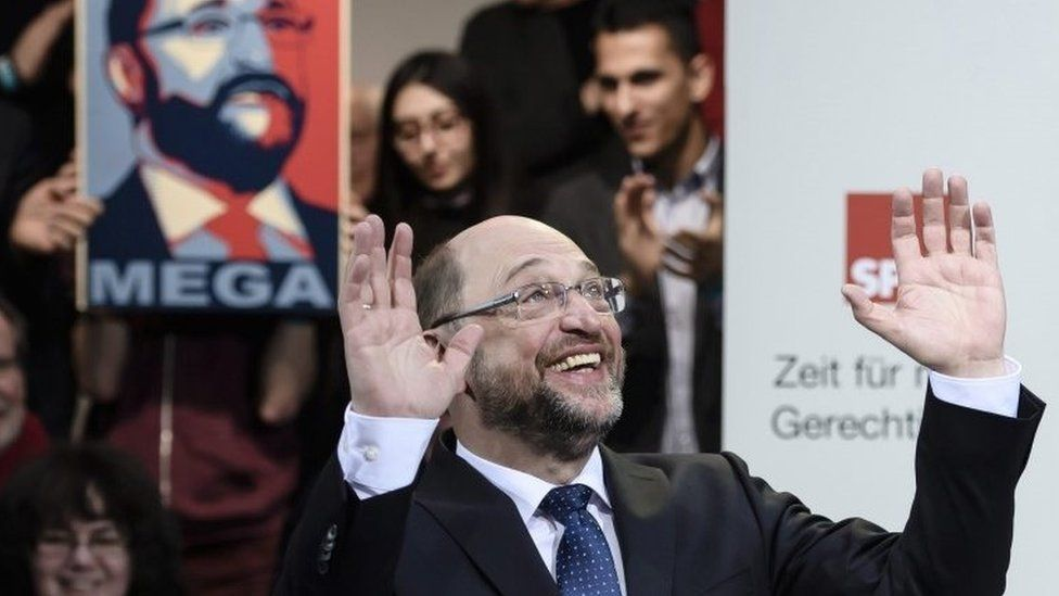 Martin Schulz, chancellor candidate of the German Social Democrats, 29 January 2017