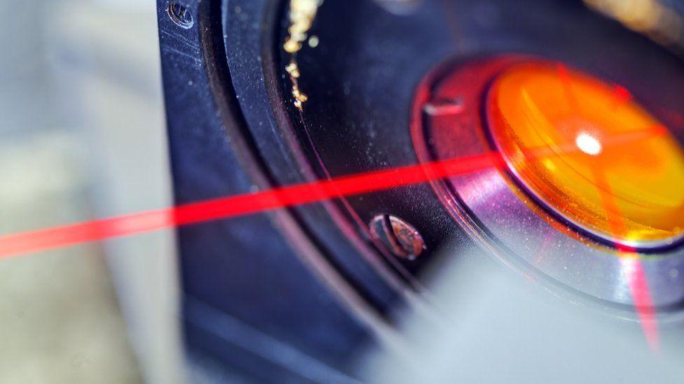 Red laser light
