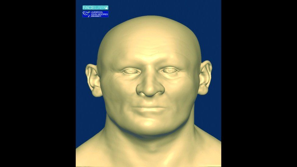 The face was recreated from a cast made from what is believed to have been the king's skull
