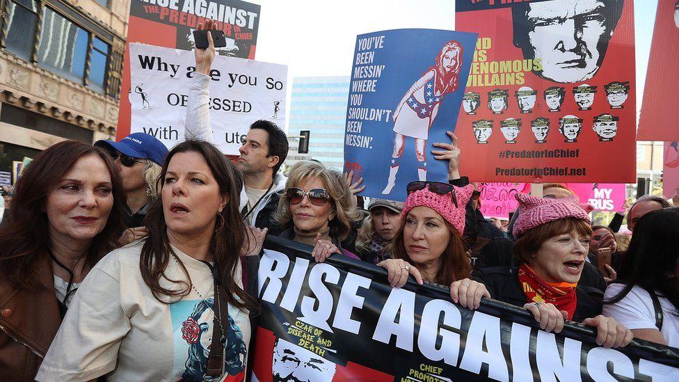 Jane Fonda at the Women's March in LA