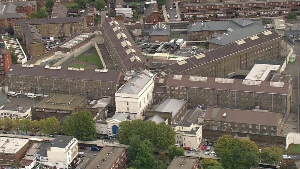Aerial of Pentonville Prison