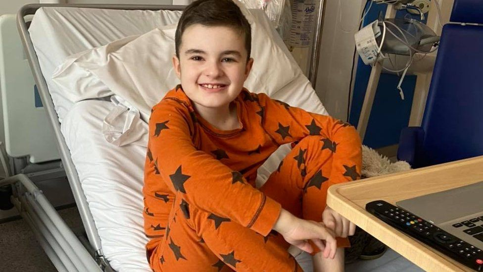 Finley in hospital getting treatment