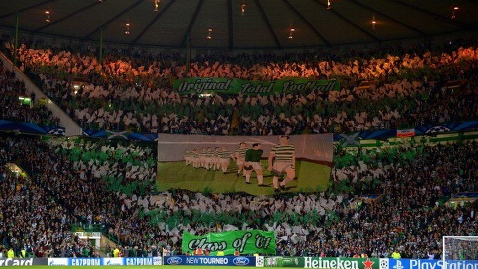 Celtic fans during their 2013-14 CL group match v Ajax