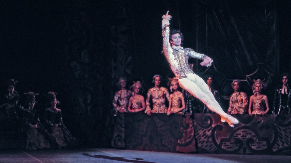 Rudolf Nureyev performing with the National Ballet of Canada in 'Sleeping Beauty' which he choreographed in 1972
