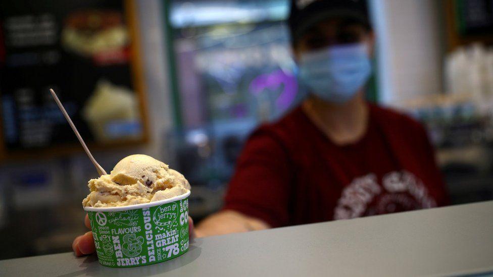 Ben & Jerry's ice cream shop in 2020