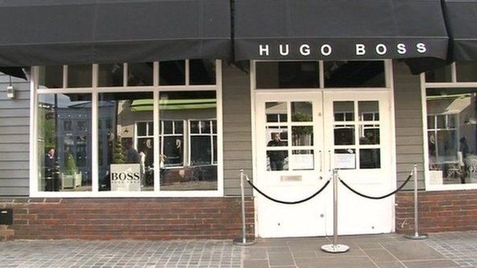 Hugo Boss store in Pingle Drive