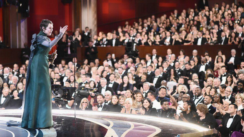 Olivia Colman accepts her best actress Oscar