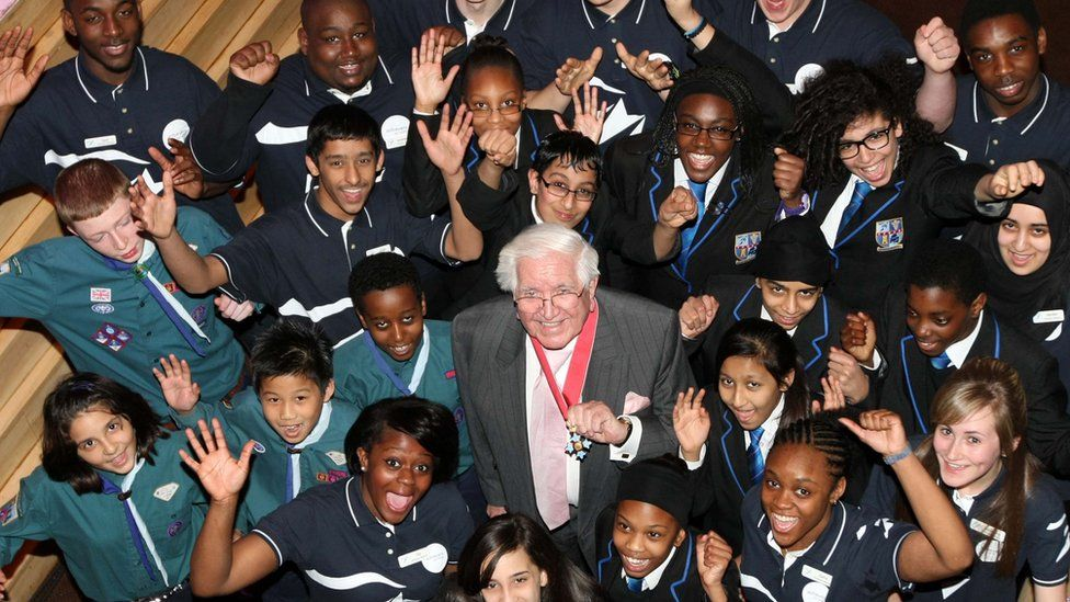 Sir Jack with young people