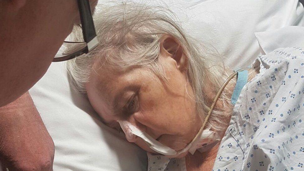 Janet Gunningham suffered a stroke after contracting meningitis around Christmas