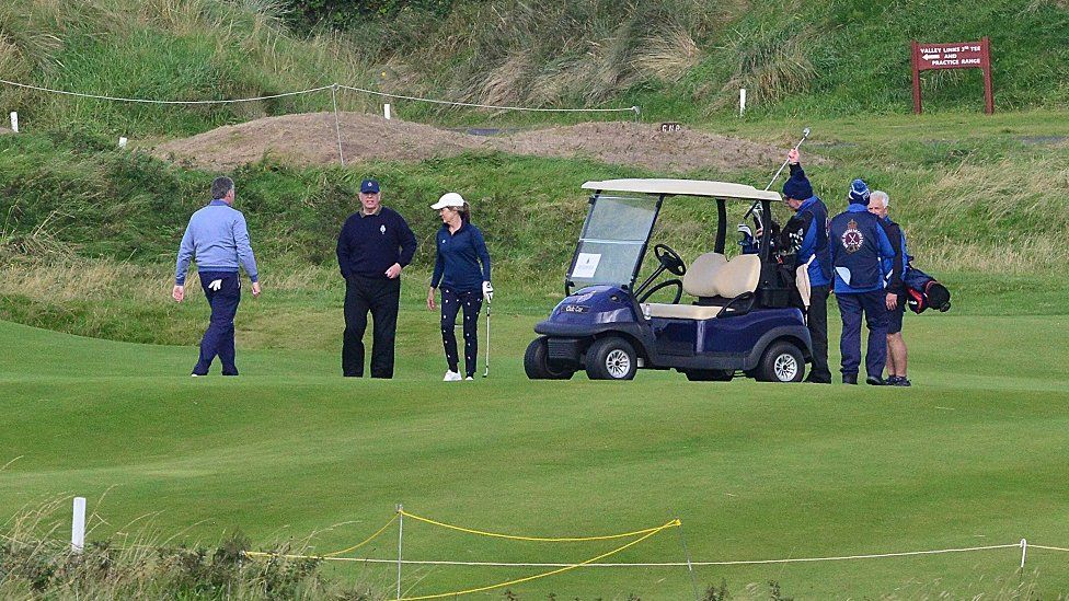 Prince Andrew at Royal Portrush golf course