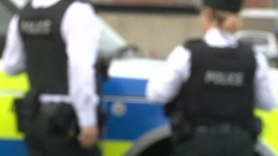 Blurred picture of PSNI officers