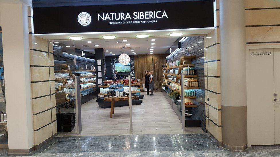 Natura Siberica's shop in Estonia