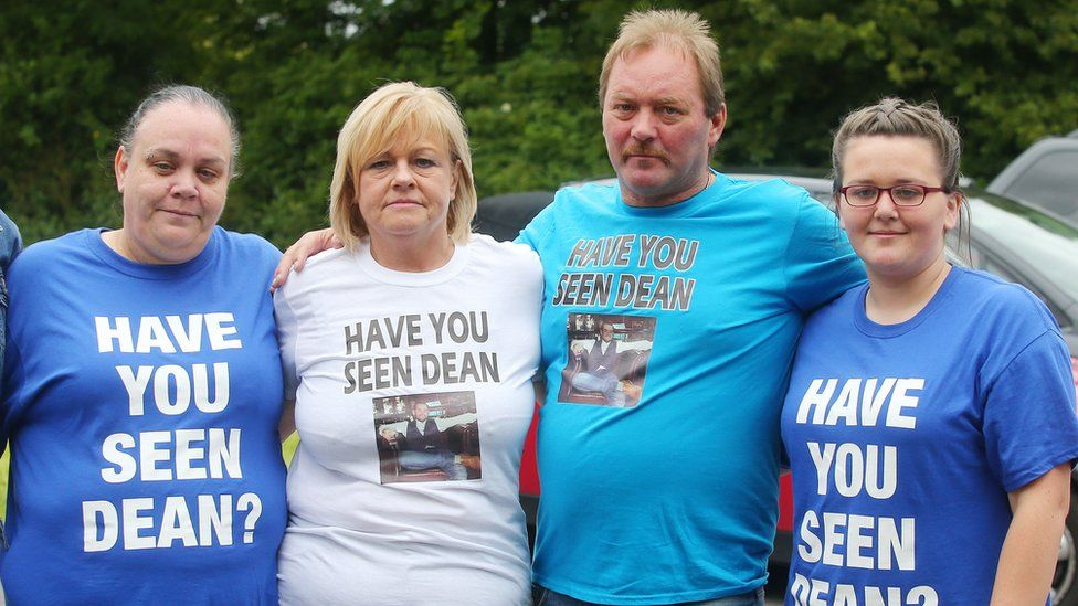 People taking part in the search for Dean McIlwaine on Saturday