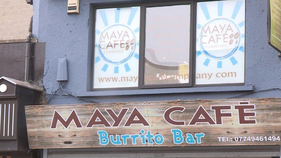 Maya Cafe sign