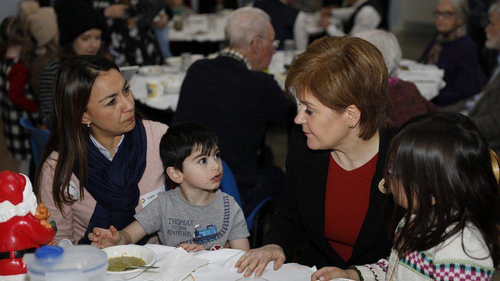 Nicola Sturgeon at the Woodlands Community Cafe