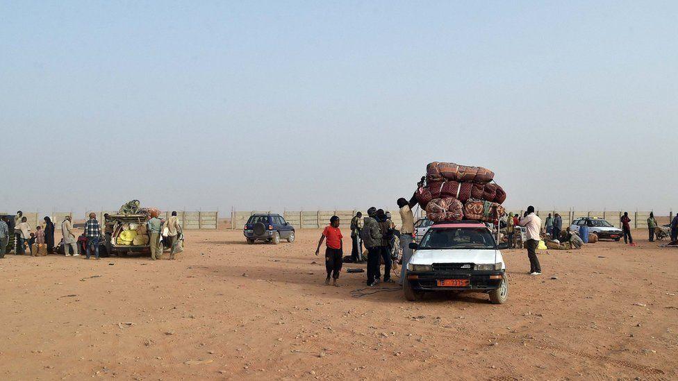 Migrants in Agadez, northern Niger. 30 May 2015