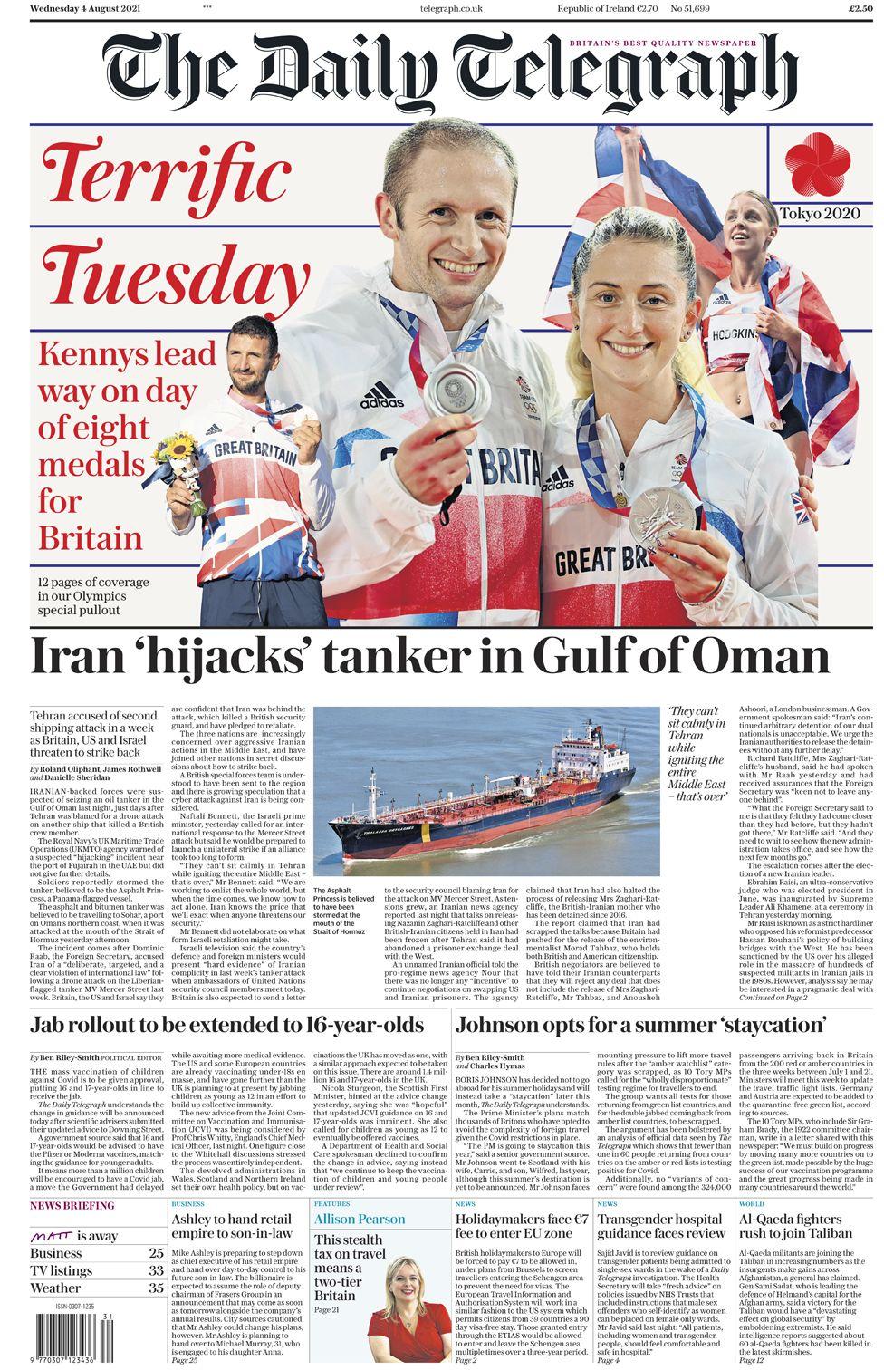 Daily Telegraph - 04/08/21