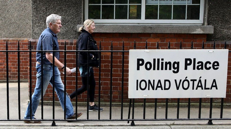 Irish polling station