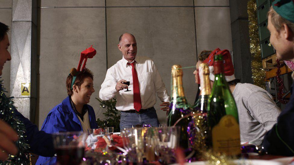 Christmas party scene